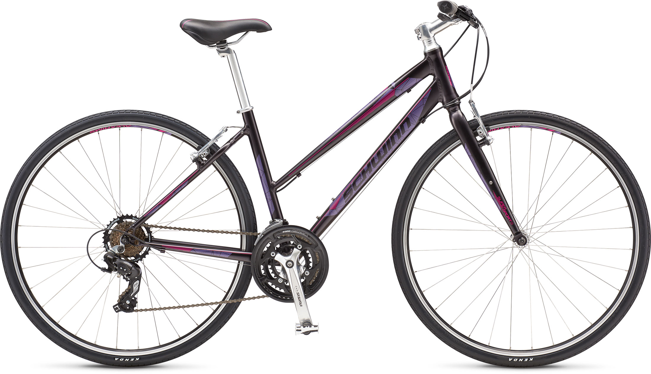 Schwinn Bicycles 2017 Super Sport 3 Women's Small Purple, Gray