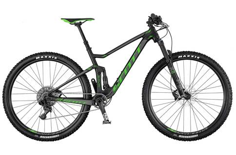 106bc9e553d Scott 2017 Spark 745 Bicycle Large Alloy Black, Green, Gray – Melonbike